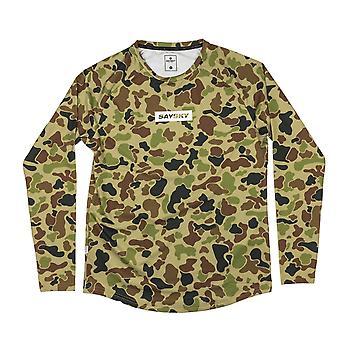 SAYSKY Unisex Camo Pace Long Sleeve Running T-Shirt
