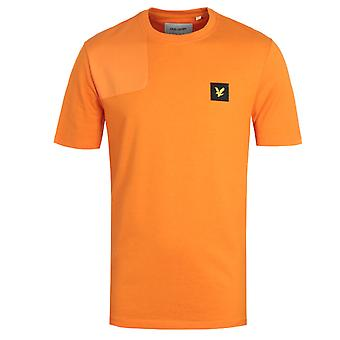 Lyle & Scott Ripstop Applique Risk Orange Logo T-Shirt