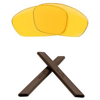 Polarized Replacement Lenses & Kit for Oakley Straight Jacket Yellow & Brown Anti-Scratch Anti-Glare UV400 by SeekOptics
