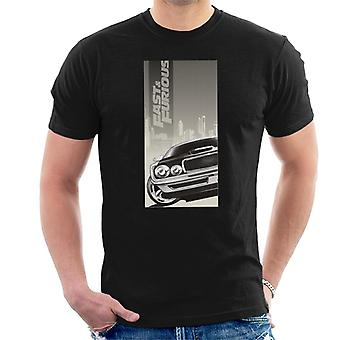 Fast and Furious Dodge Charger City Backdrop Men's T-Shirt