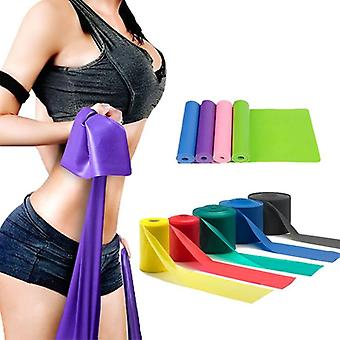 Yoga Pilates Stretch Resistance Band Übung Fitness Band Training elastisch