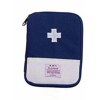Kit médico portátil de primeiros socorros, bolsa de armazenamento de medicamentos de viagem/camping, sobrevivência