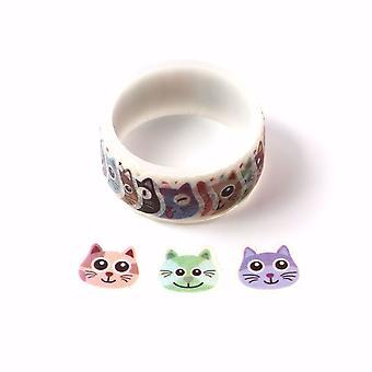 Många sorters katter Washi Tape Stickers Roll 27mm x 100 Klistermärken