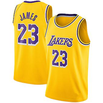 Los Angeles Lakers Lebron James Quick-drying loose basketball uniform top QY036