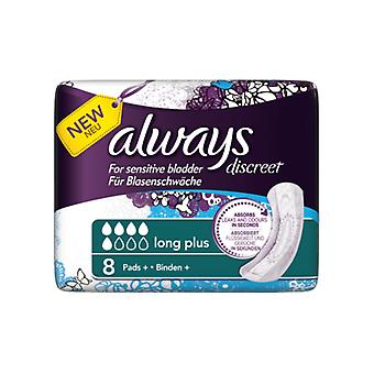 Always Discreet Pads Long Plus 8's x4 (54207)
