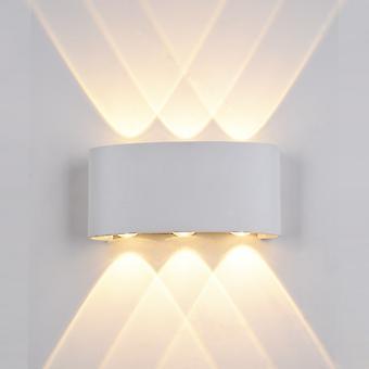 Italux Gilberto - Moderne LED Outdoor Wandleuchte Weiß, Warm Weiß 3000K 420lm, IP44