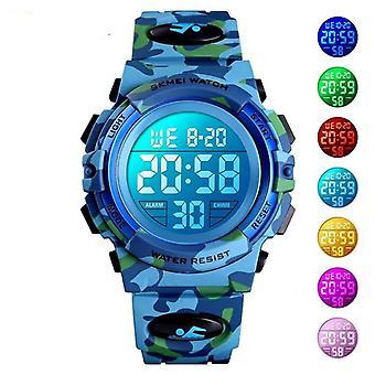 Militær Kids Sport ure-elektronisk armbåndsur Stop Watch