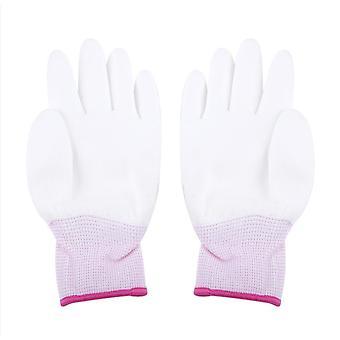 Antistatische werkhandschoenen-pu coated, vingerbescherming voor computer/telefoon