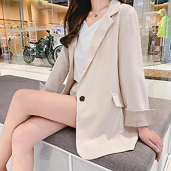Two Piece Thin Suits Spring Summer Shorts Suits Long Sleeve Casual