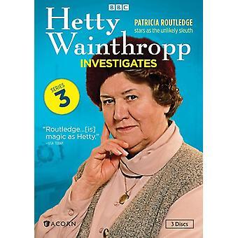 Hetty Wainthropp undersøge: Serie 3 [DVD] USA importerer