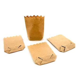 Dolls House Miniatyr Shop Store Tillbehör 1:12 Skala Brunt Papper Matkassar