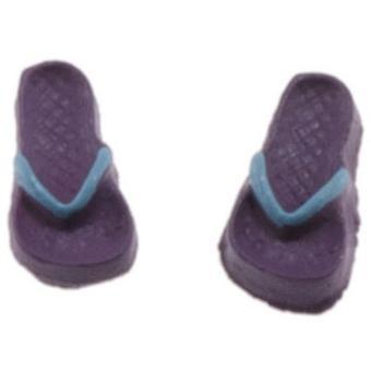 Dolls House Purple Flip Flops Sandals Shoes Miniature Summer Beach Accessory
