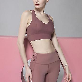 High elastic cross beauty back yoga bra Q43