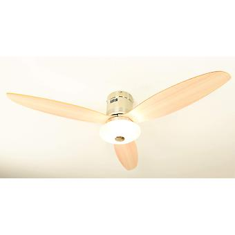 Ceiling fan Aero Maple with light and remote control