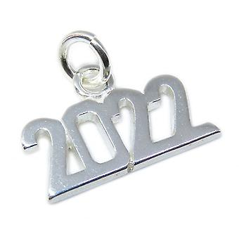 2022 Year Sterling Silver Charm .925 X 1 Graduation Anniversary Years - 8639