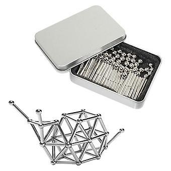 Giocattoli magnetici - 54 palline + 72 bastoncini - cromo