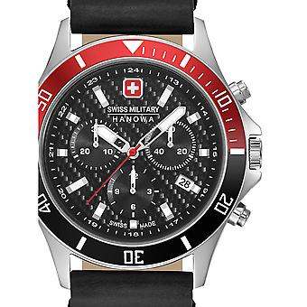 Mens Watch Swiss Military Hanowa 06-4337.04.007.36, Quartz, 42mm, 10ATM