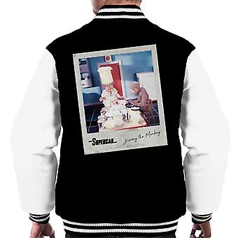 Supercar Mitch The Monkey And Professor Popkiss Men's Varsity Jacket