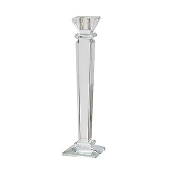 """Glass 13"""" Candle Holder, Clear"""