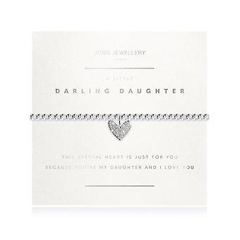 مجوهرات جوما الأوجه ابنة دارلينج قليلا الفضة 17.5cm تمتد سوار 3190