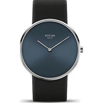 VOTUM - montre femme - CIRCLE - Pure - V01.10.10.01 - Bracelet en cuir - noir