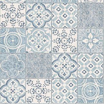 Salina Safira Tile Wallpaper