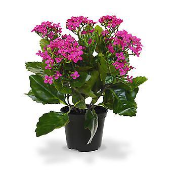 Kunst kalanchoë plant 30 cm paars in pot