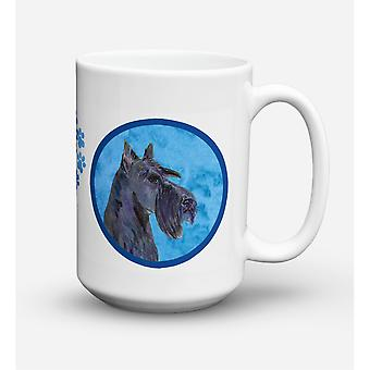 Caroline's Treasures SS4805-BU-CM15 Scottish Terrier Microwavable Ceramic Coffee Mug, 15 oz, Multicolor