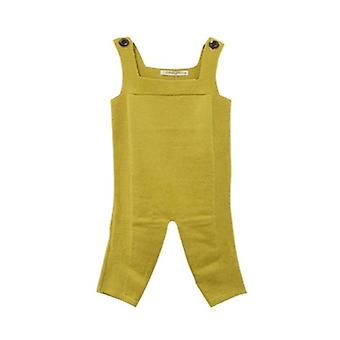 Baby Cotton Knitted Romper, Spring Overalls