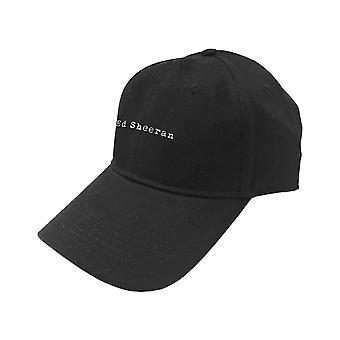 Ed Sheeran Baseball Cap Type Logo new Official Black Unisex