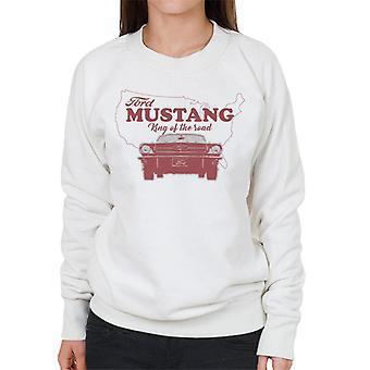 フォードマスタングキングオブザロードミシガンマップ女性&アポ;sスウェットシャツ