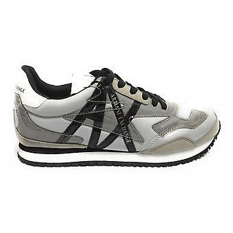 Shoes Women's Armani Exchange Sneaker Nylon/ White Faux Leather/ Grey Ds21ax04 Xdx052