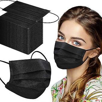 50 stuks Non medical mondmaskers - 3 laags - zwart