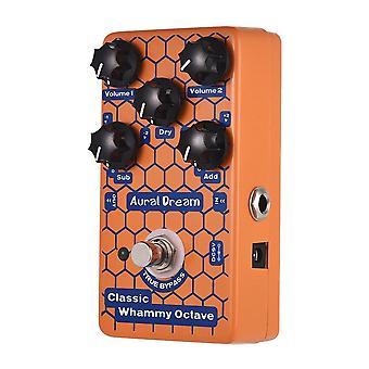 Classic octave guitar effect pedal aluminum alloy shell true bypass