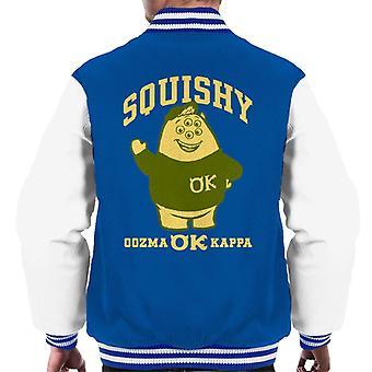 Pixar Monsters University Squishy Oozma Ok Kappa Men's Varsity Jacket