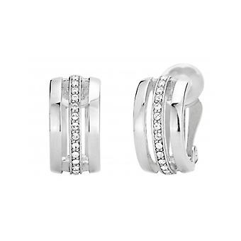 Traveller Clip Earring - Rhodium Plated - Swarovski Crystals - 157082 - 446