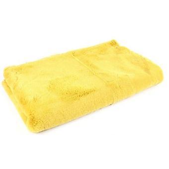 plaid Jozias 154 x 130 cm fleece yellow