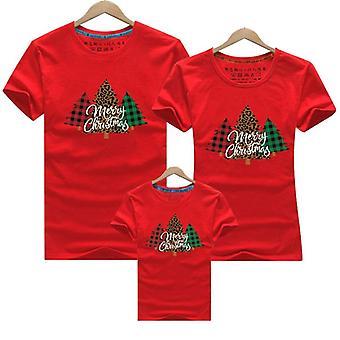 Crăciun fericit familie de potrivire tricou, tricou pentru mama tata copii