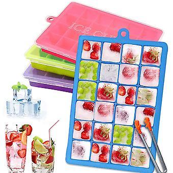 Eiswrfelform,4 stuck Eiswrfelbehlter Silikon Schwarz Ice Cube Tray Wrfel Eiswrfel BPA Frei fr