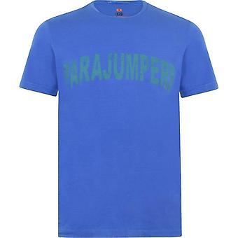 Parajumpers Seward Rough Logo Blue T-shirt
