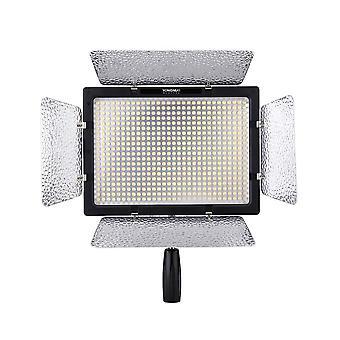 600 Led studio video light lamp color temperature adjustable for canon nikon camcorder