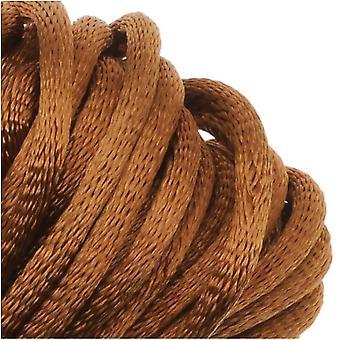 Final Sale - Rayon Satin Rattail 2mm Cord - Knot & Braid - Dark Tan Brown (6 Yards)