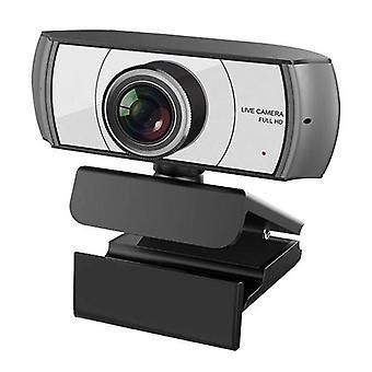 1080P HD Streaming Webcam USB Computer Video Camera 2 Megapixels 120° Wide Viewing Manual Focus