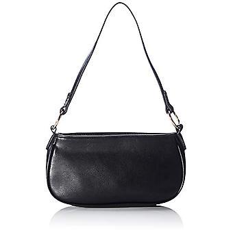 PIECES PCRASMINE Shoulder Bag, Women's Evening Bag, Black/AOP: Plain PU, One Size