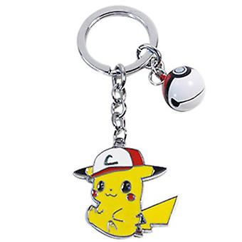 New Pokemon Pikachu Metal Small Pendant Elf Ball Bell Keychain Key Ring ES12494