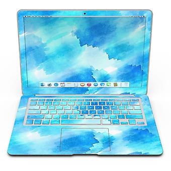 Abstract Blue Stroked Watercolour - Macbook Air Skin Kit