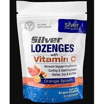 Silver Biotics (American Biotech Labs) Silver Lozenges w/ Vitamin C, 21 Lozenges