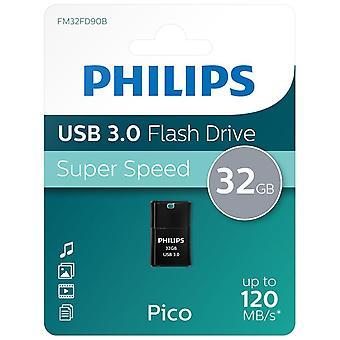 Philips USB 3.0 Pico Edition Flash Drive 32GB Pen Drive - Preto