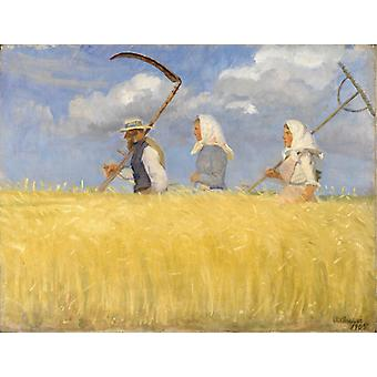 Harvesters,anna Ancher Art Reproduction.impressionism Style Modern Hd Art Print Poster,canvas Prints Wall Art For Home Decor Pictures (unframed)