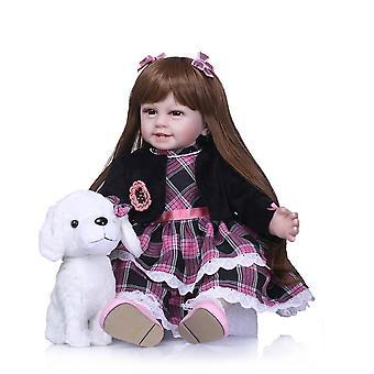 22''Baby baba puha szilikon vinil imádnivaló élethű kisgyermek baby bonecas lány gyerek bebes újjászületett babák játékok lányok születésnapja